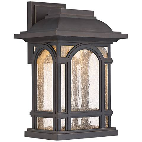 "Cathedral 13 1/2""H Palladian Bronze LED Outdoor Wall Light"
