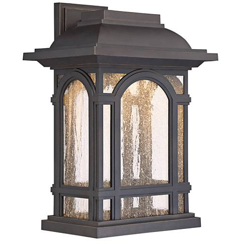 "Cathedral 16 1/4""H Palladian Bronze LED Outdoor Wall Light"