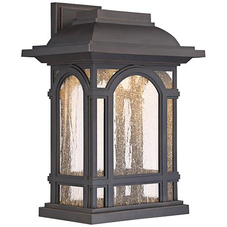 """Cathedral 16 1/4""""H Palladian Bronze LED Outdoor Wall Light"""