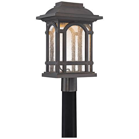 """Cathedral 18 3/4""""H Palladian Bronze LED Outdoor Post Light"""