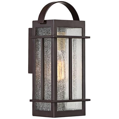 """Crestview 12 1/2"""" High Western Bronze Outdoor Wall Light"""