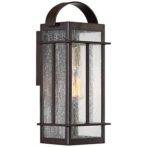 """Crestview 15 1/2"""" High Western Bronze Outdoor Wall Light"""