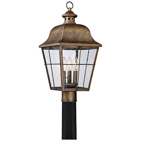 "Quoizel Millhouse 21 1/2"" High Veneto Outdoor Post Light"