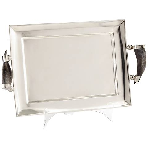 Agatha Silver Large Serving Tray