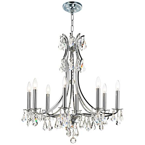"Crystorama Cedar 27""W Polished Chrome 8-Light Chandelier"