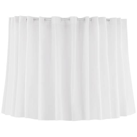 White Curtain Drum Lamp Shade 14x14x11.5 (Spider)