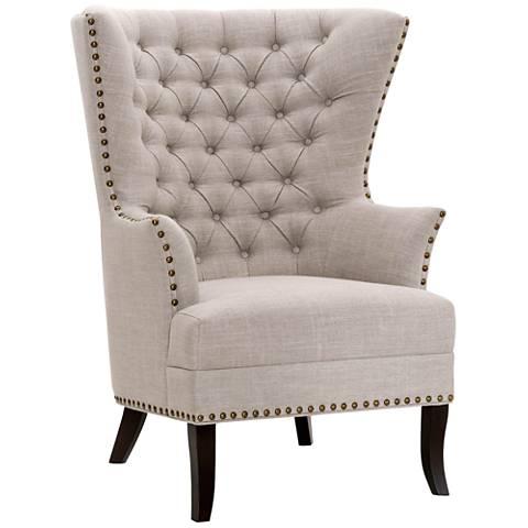 Villa Bristol Birch Fabric Club Chair