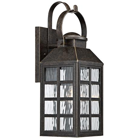 """Quoizel Miles 21 1/2""""H Imperial Bronze Outdoor Wall Light"""