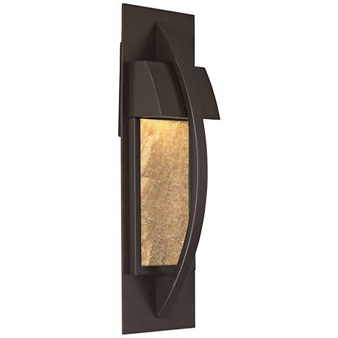 "Monument 17 1/2"" High Western Bronze LED Outdoor Wall Light"