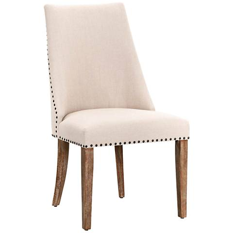 Traditions Park Stone Linen Dining Chair