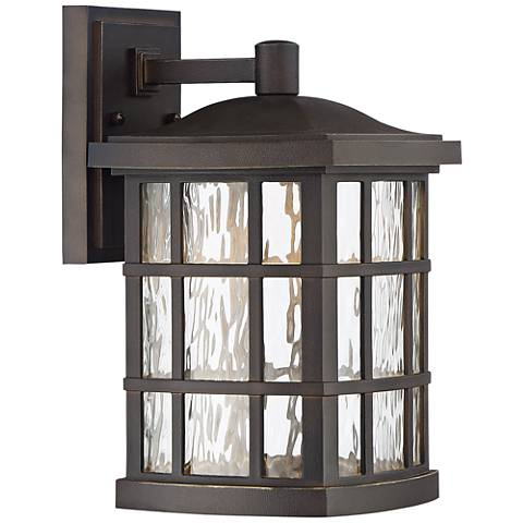 "Stonington 13"" H Palladian Bronze LED Outdoor Wall Light"