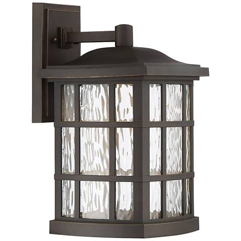 "Stonington 15 1/2""H Palladian Bronze LED Outdoor Wall Light"