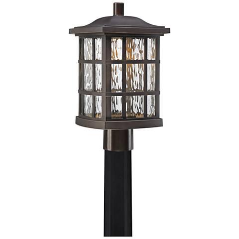 """Stonington 16 1/2"""" Palladian Bronze LED Outdoor Post Light"""