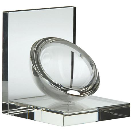 Crystal Clear Modern Sphere Bookends