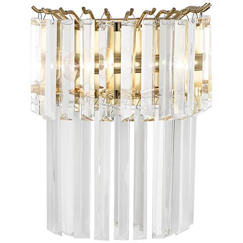 "Robert Abbey Spectrum 12 3/4""H Brass Plug-In Wall Sconce"