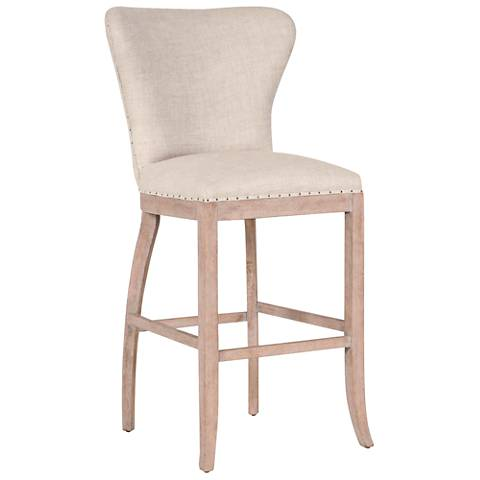 "Essentials Welles 30"" Bisque French Linen Armless Barstool"