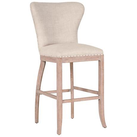 """Essentials Welles 30"""" Bisque French Linen Armless Barstool"""