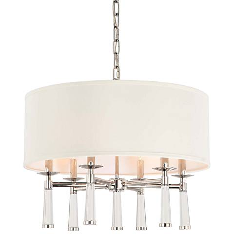 "Crystorama Baxter 24"" Wide Polished Nickel Pendant Light"