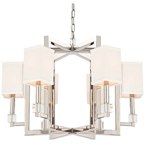 "Crystorama Dixon 28 1/2"" Wide Polished Nickel Chandelier"