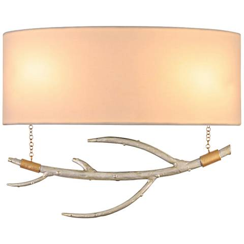 "Reno 10"" High Pearl Silver Hanging Branch Wall Sconce"