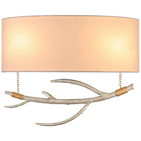 """Reno 10"""" High Pearl Silver Hanging Branch Wall Sconce"""