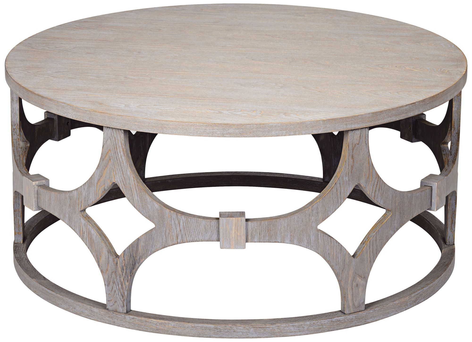 Lanini Gray Wash Round Coffee Table