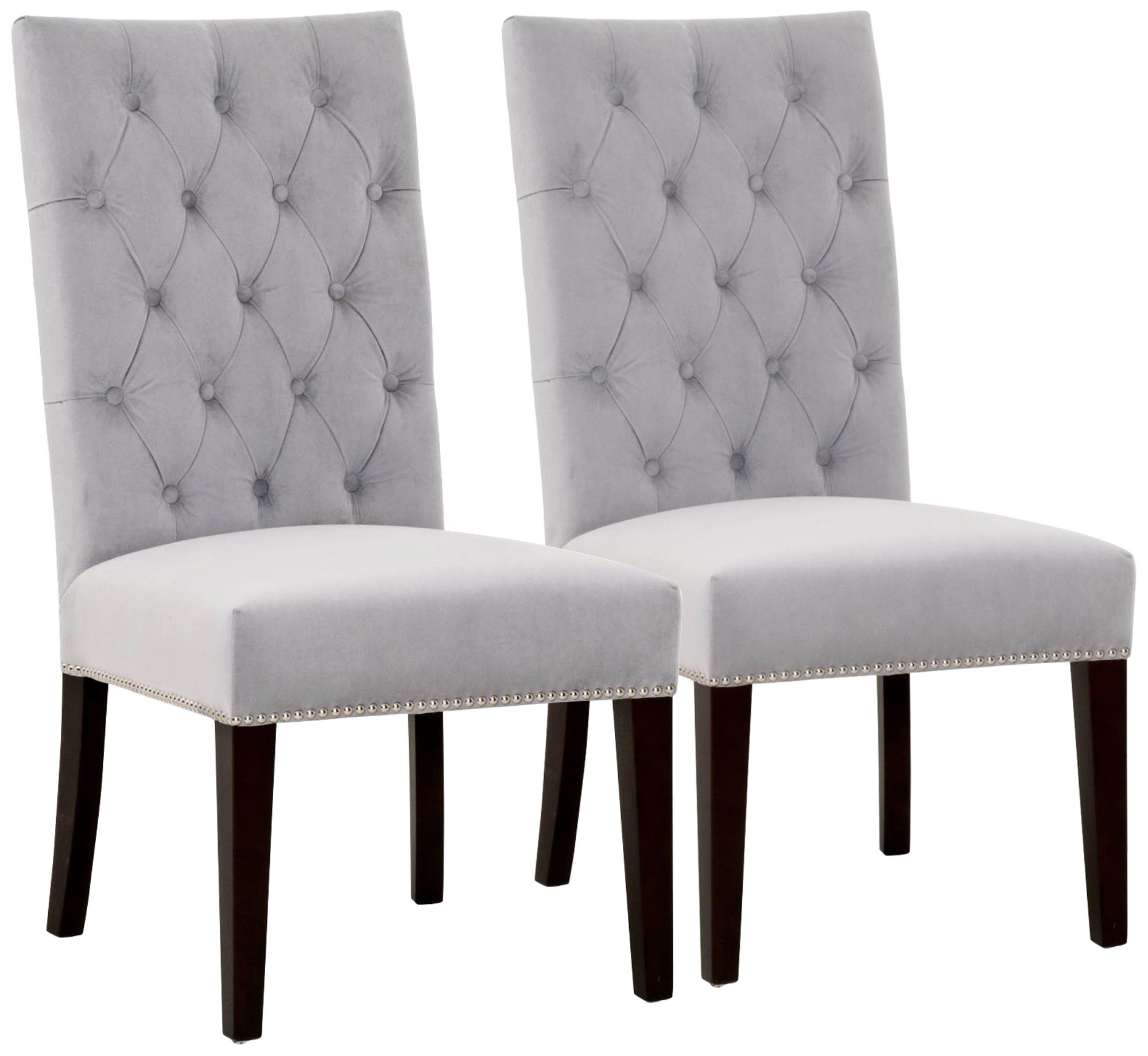 Velvet Tufted Dining Chairs Full Size Accent Chairs Luxury