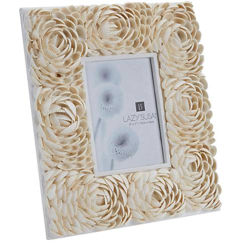 Natural Shell Flower 5x7 Decorative Photo Frame