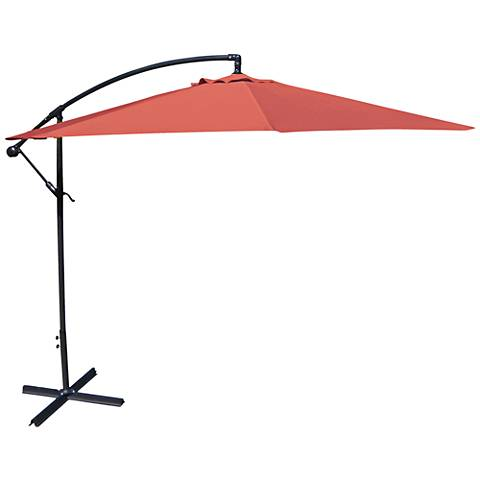 Carlsbad Melon 10' Steel Offset Umbrella