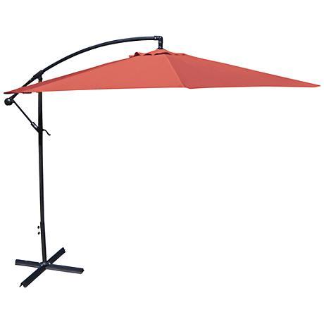 Carlsbad Melon 10' Steel Offset Umbrella