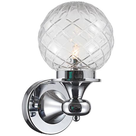 "Crystorama Essex 11"" High LED Globe Chrome Wall Sconce"