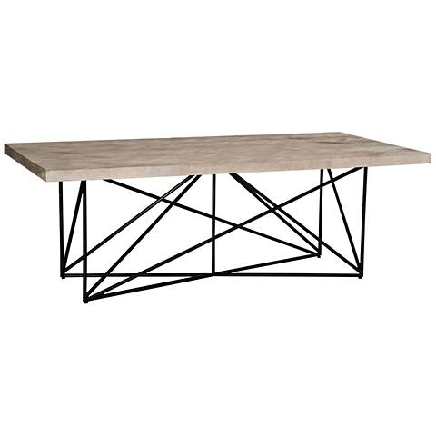 Bella Antique Canvas Steel Smoke Gray Pine Top Dining Table