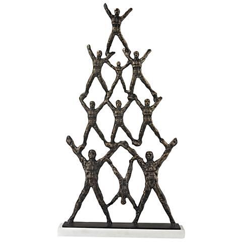 "Troup Bronze Cast Iron 20"" High Decorative Statue"