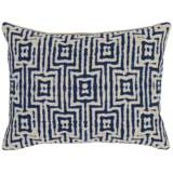"Resort Indigo 20"" x 14"" Textured Fabric Accent Pillow"