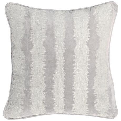 "Jubilee Pearl 18"" Square Cotton Velvet Accent Pillow"