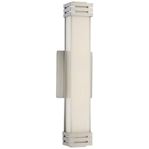 "Platinum Collection Valiant 18"" Wide Nickel LED Wall Sconce"