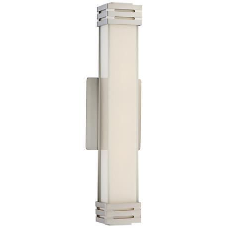 """Platinum Collection Valiant 18"""" Wide Nickel LED Wall Sconce"""