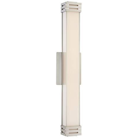 """Platinum Collection Valiant 24"""" Wide Nickel LED Wall Sconce"""