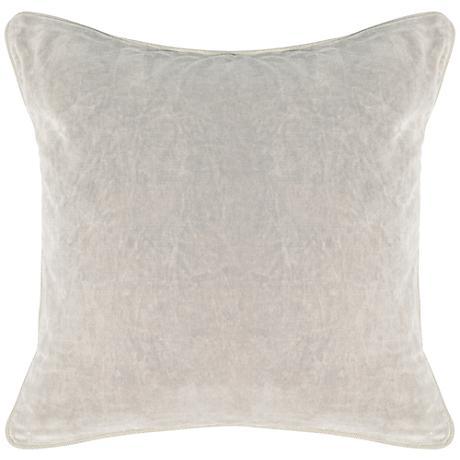"Grandeur Fog18"" Square Cotton Velvet Accent Pillow"