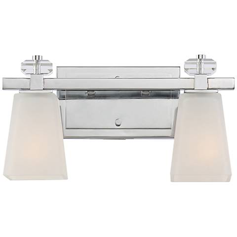 "Quoizel Supreme 14 1/2"" Wide Polished Chrome Wall Sconce"