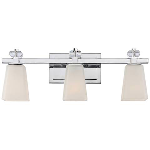 "Quoizel Supreme 22"" Wide Polished Chrome Bath Light"