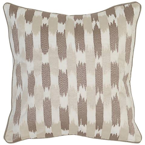 "Modern Chic 3-Tone Brown 22"" Square Feather Accent Pillow"