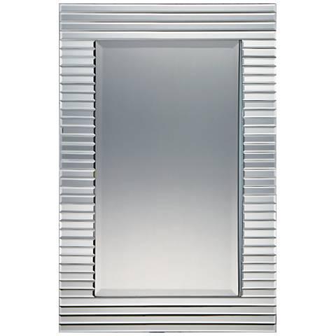 "Quoizel Ultra Polished Steel 24"" x 36"" Wall Mirror"