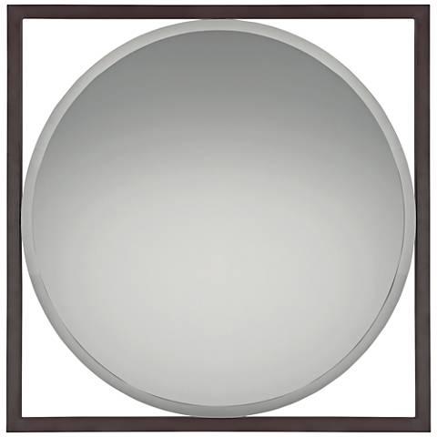 "Quoizel Vista Western Bronze 30"" Square Wall Mirror"