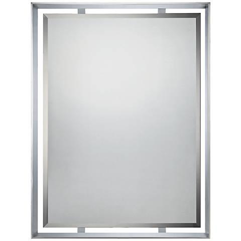 """Quoizel Uptown Ritz Chrome 26"""" x 36"""" Modern Mirror"""