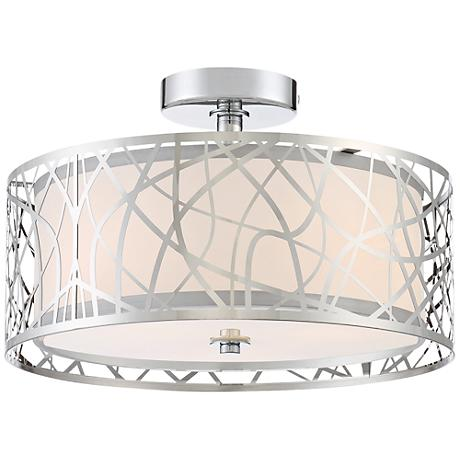 "Platinum Collection Abode 15""W Polished Chrome Ceiling Light"