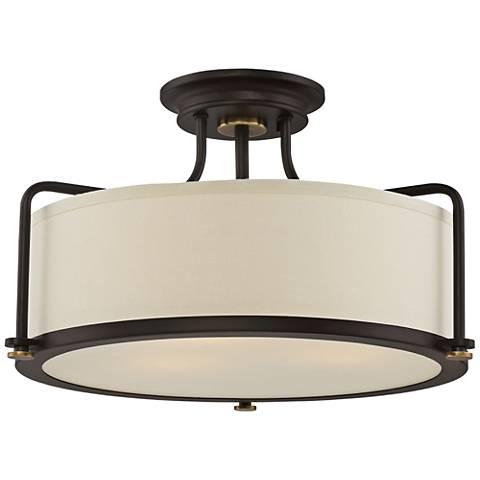 "Quoizel Calvary 17 1/2"" Wide Western Bronze Ceiling Light"