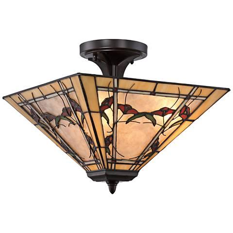 "Quoizel Monteclaire 15"" Wide Western Bronze Ceiling Light"