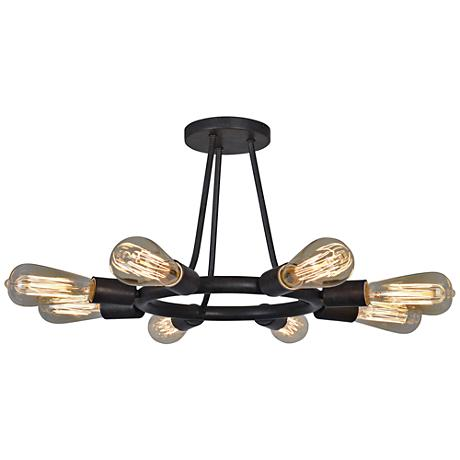"Crystorama Dakota 15""W 8-Light Dark Bronze Ceiling Light"