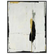 "Black and Gold Splatter 37 3/4""H Framed Canvas Wall Art"